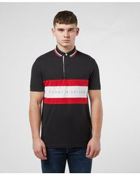 Tommy Hilfiger Chest Stripe Short Sleeve Polo Shirt - Multicolour