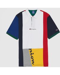 Champion Team Stripes Short Sleeve Polo Shirt - Multicolour
