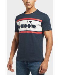 Diadora - Spectra Panel Logo T-shirt In Navy - Lyst
