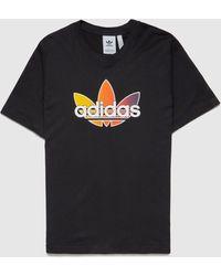 adidas Originals Sport Colour Trefoil T-shirt - Black