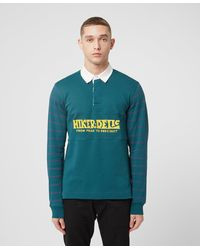 Hikerdelic Skyes Long Sleeve Rugby Shirt - Green