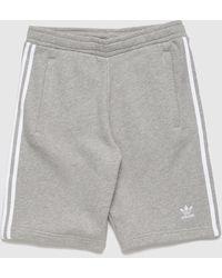 adidas Originals 3-stripes Fleece Shorts - Grey