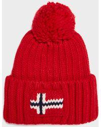5ae8a69047e Napapijri Semiury Bobble Hat in Yellow for Men - Save 14% - Lyst