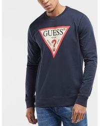 Guess - Triangle Logo Sweatshirt - Lyst