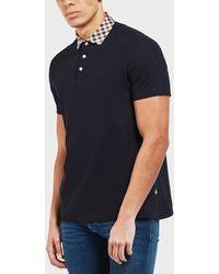 Aquascutum Navy Coniston Polo Shirt - Blue