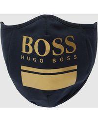 BOSS by Hugo Boss Logo Face Mask Multi - Blue