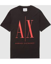 Armani Exchange Icon Logo T-shirt - Black