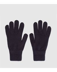 Barbour Wool Gloves - Blue