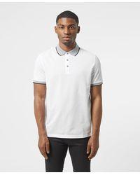 Michael Kors Logo Collar Short Sleeve Polo Shirt - White