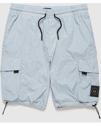 Marshall Artist Garment Dyed Cargo Shorts - Blue