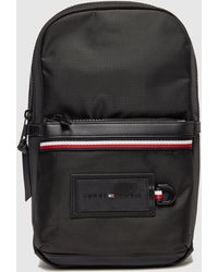 Tommy Hilfiger Small Logo Cross Body Backpack - Black