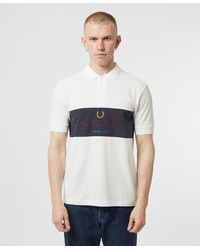 Fred Perry Archive Branding Short Sleeve Polo Shirt - White