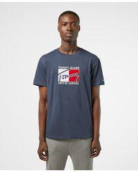 Tommy Hilfiger Flag Script Short Sleeve T-shirt - Blue