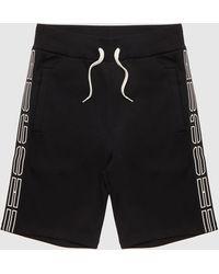 HUGO Dorts Tape Shorts - Black
