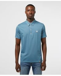 Pretty Green Barley Carver Short Sleeve Polo Shirt - Blue
