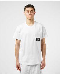 Calvin Klein - Mix Media Pocket Short Sleeve T-shirt - Lyst