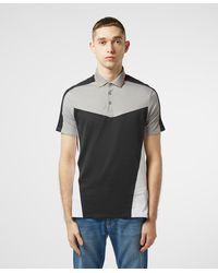 Armani Exchange Geometric Short Sleeve Polo Shirt - Black