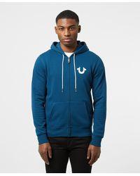 True Religion Core Logo Zip Hoodie - Blue