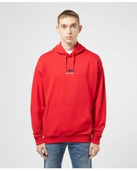 Helly Hansen Small Logo Overhead Hoodie - Red