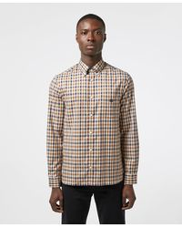Aquascutum York Club Check Long Sleeve Shirt - Exclusive - Brown