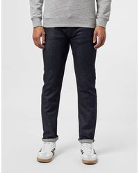 Lacoste Slim Tapered Croc Jeans - Blue
