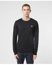 Fred Perry Twin Tipped Long Sleeve T-shirt - Black