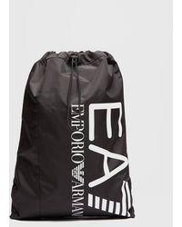 EA7 Train Drawstring Bag - Black