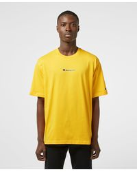 Champion Central Logo Short Sleeve T-shirt - Yellow