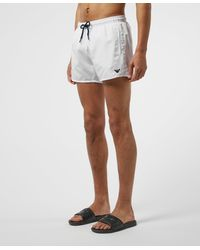 Emporio Armani Small Logo Swim Shorts - White