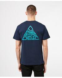 Hikerdelic Mountain Logo Short Sleeve - Blue