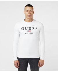 Guess Usa Logo Sweatshirt - White
