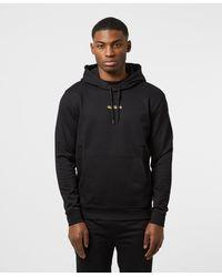 HUGO Doley Central Logo Hoodie - Black