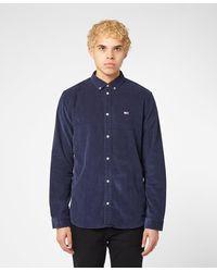 Tommy Hilfiger Corduroy Long Sleeved Shirt - Blue