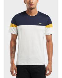 Lacoste - Triple Block Short Sleeve T-shirt - Lyst