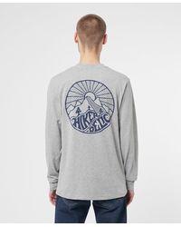 Hikerdelic Core Logo Long Sleeve T-shirt - Grey