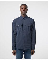 Fjallraven Abisko Trekking Long Sleeve Shirt - Blue