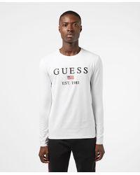 Guess Belong Long Sleeve T-shirt - White