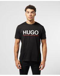 HUGO Dolive Linea Short Sleeve T-shirt - Black
