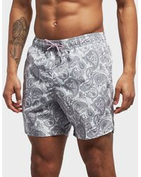 f9d0637003 Lyst - Paul Smith Men's Black 'spotted Paisley' Print Swim Shorts in ...