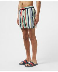 Tommy Hilfiger Stripe Swim Shorts - Blue