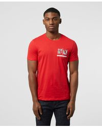 Armani Exchange Small Chest Logo T-shirt - Red
