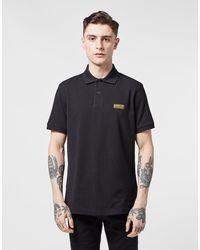 Barbour Short Sleeve Polo Shirt Black