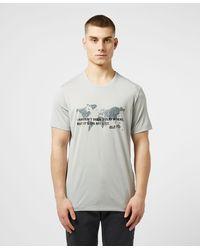 Jack Wolfskin World Graphic Short Sleeve T-shirt - Grey