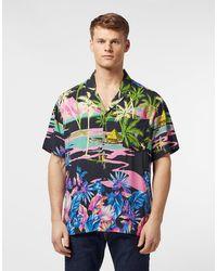 Guess Bowling Short Sleeve Shirt - Black