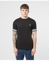 Fred Perry Bold Cuff T-shirt - Black