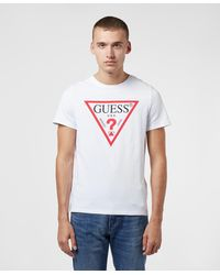 Guess Core Logo Short Sleeve T-shirt - White