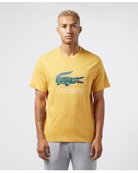 Lacoste Large Vintage Croc Short Sleeve T-shirt - Yellow