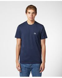Fred Perry Core Pocket Short Sleeve T-shirt - Blue