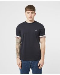 Fred Perry Bold Cuff T-shirt - Blue