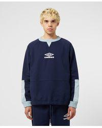Umbro Maine Road Drill Sweatshirt - Blue